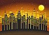 Схема вышивки бисером Огни ночного города