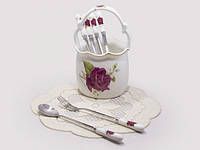 Набор десертных приборов Роза (7предметов)