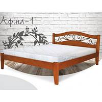 Кровать Афина 160х200 бук, цвет натуральное дерево