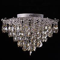 Хрустальная люстра, классическая на 8 лампочек (белое золото). P5-E1309/8/WT+FG