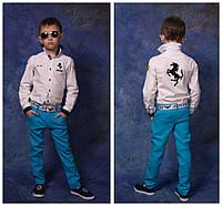 Детские брюки из льна (унисекс) №88-868