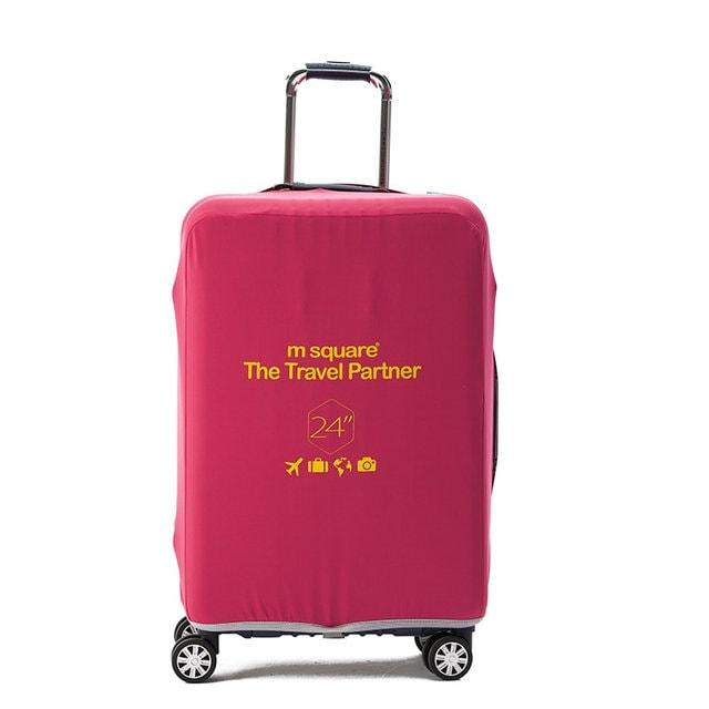 Чехол на чемодан (М) (розовый)