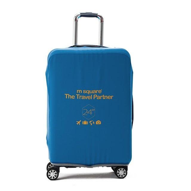 Чехол на чемодан М синий