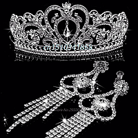 Диадема и серьги ФИОНА корона свадебная диадемы тиары