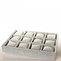 Бокс-витрина на 12 ячеек с подушечками велюр [35/25/5 см]