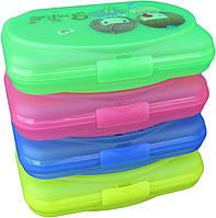 """Контейнер для бутербродов пластиковый детский (18×12×4 см) """"ПолимерАгро"""" + Видеообзор"""