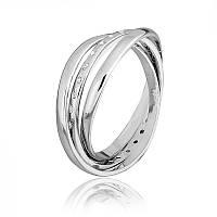 "Серебряное кольцо на фалангу копия ""Chanel"""
