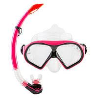 Набор для подводного плавания (маска и трубка) М9510Р+SN52 (розовый)