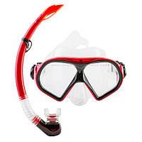 Набор для подводного плавания (маска и трубка) М9510Р+SN52 (красный)
