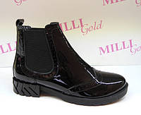 Лаковые женские ботинки