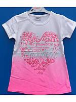 Модная футболка-туника  для девочки 128-164