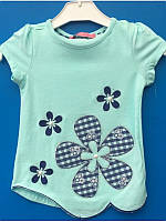 Футболка блузка мятная для девочки 86-104