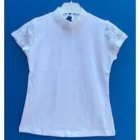 Нарядная блузка  для девоки с коротким рукавом 116-164