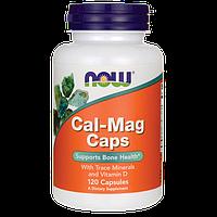 Кальций и Магний, Cal-Mag, Now Foods, 120 капсул, фото 1
