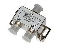 Сплиттер разветвитель антенный Vipsat 2-WAY HQ Делитель ТВ-сигнала