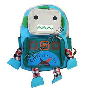 """Рюкзак детский для мальчиков """"Робот"""" (30х30см.) 7207 бирюзовый"""