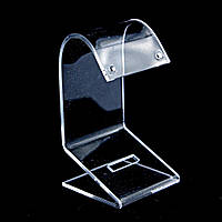 Подставка для серёг пластиковая прозрачная, h=7 см