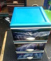Комод пластиковый элиф водопад на 3 ящика