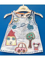 Летнее джинсовое платье сарафан 74-86