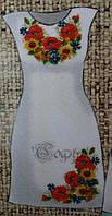 Хлопковая заготовка для вышивки женского платья, дом.плотно белое,44-56 р-ры