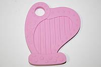 Арфа, силиконовый прорезыватель, розовый