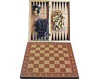 Игра настольная 3 в 1 Нарды, Шахматы, Шашки 34 x 34 см
