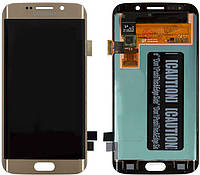 Дисплейный модуль для Samsung Galaxy S6 Edge G925F (Gold Platinum) Original