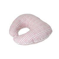 Подушка под голову Розовая клетка Прованс#AndreTan