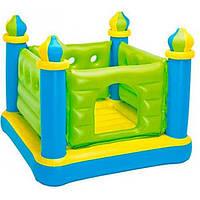 Детский надувной батут Зеленый замок 48257 Intex 132х132х107 см