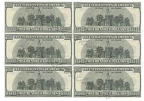 Вафельная картинка доллары