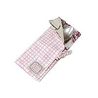 Чехол для столовых приборов Розовая клетка клетка Прованс#AndreTAN