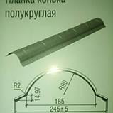 Планка конька полукруглая.0.5 мм. РЕ 25 мк -Термастил., фото 3