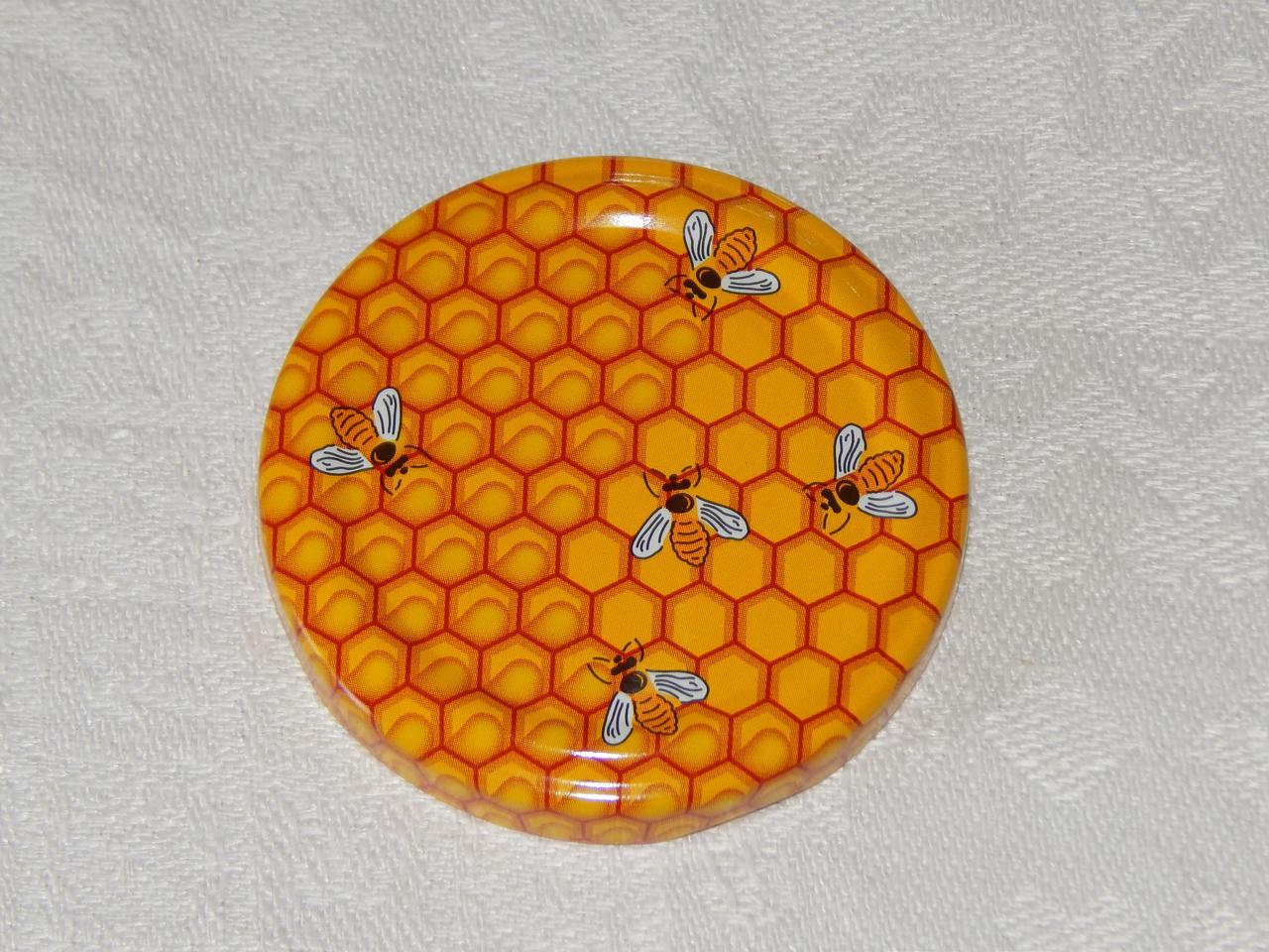Крышка закаточная твист-офф размер 58 мм медовая