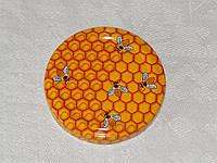Крышка закаточная твист-офф размер 58 мм медовая, фото 1