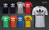 Мужская футболка с принтом адидас, футболка Adidas (ПРЯМОЙ ПОСТАВЩИК)