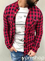 Рубашка мужская рукав длинный + подгиб с фиксацией Ткань Турция : рубашка роле№1092