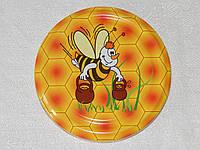 Крышка закаточная твист-офф размер 82 мм пчёлка с ведрами