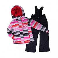 Зимний термокостюм для девочки 6-8 лет (куртка и полукомбинезон), р. 116-134 ТМ Peluche&Tartine 58 EF M F16 Black