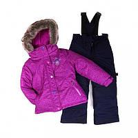 Зимний термокостюм для девочки 7-8 лет (куртка и полукомбинезон), р. 122-128 ТМ Peluche&Tartine 66 EF M F16 Dahlia