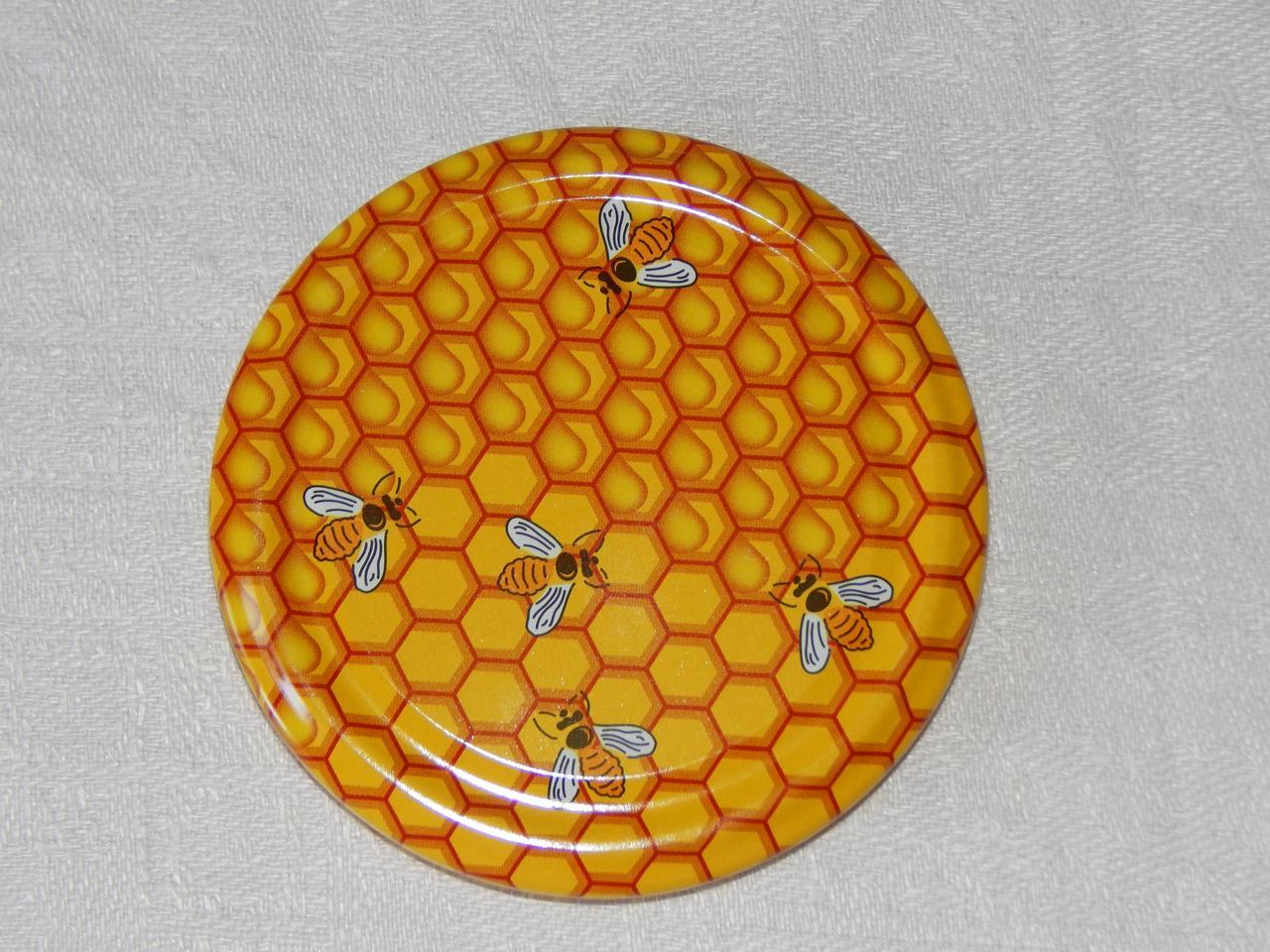 Крышка закаточная твист-офф размер 82 мм медовая
