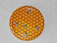 Крышка закаточная твист-офф размер 82 мм медовая, фото 1