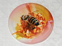 Крышка закаточная твист-офф размер 82 мм пчёлка на цветке