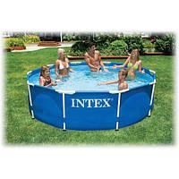 Каркасный бассейн intex metal frame без насоса  305х76 см
