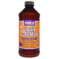 Жидкий кальций и магний со вкусом черники / Liquid Cal-Mag Blueberry Flavor, 473 мл