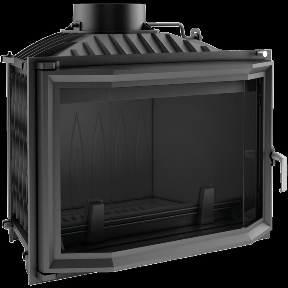 Каминная топка wiktor призматическая- 14 кВт чугунная