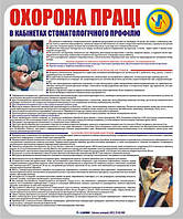 Стенд Охрана труда в стоматологиях. Пластик