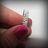 1055 Срібне колечко Діана 925 проби з камінням, фото 6