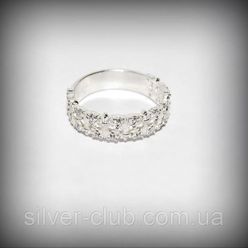 1055 Срібне колечко Діана 925 проби з камінням
