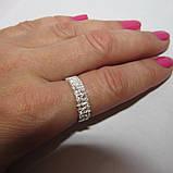 1055 Срібне колечко Діана 925 проби з камінням, фото 8