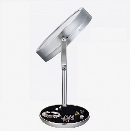 Двойное зеркало для макияжа с LED подсветкой 5X